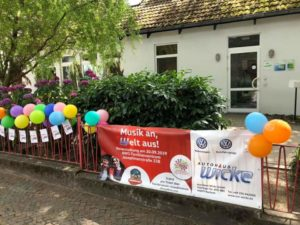 Banner zur Benefitzveranstaltung der AWO Kindertagesstätte